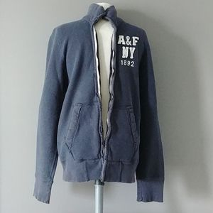 Abercrombie& Fitch muscle fit terry zip up jacket